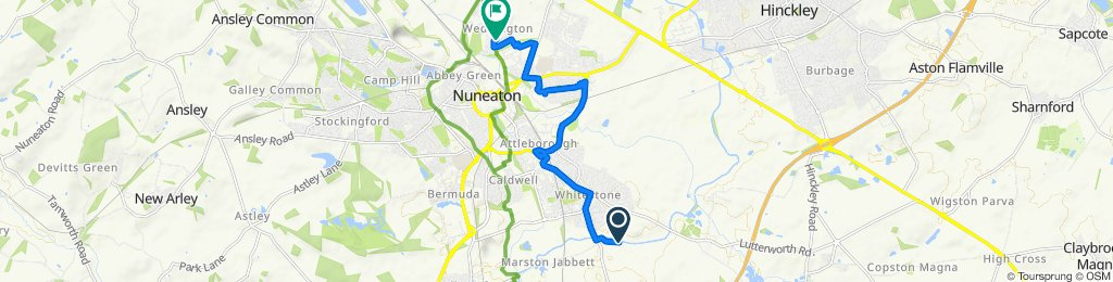 Relaxed route in Nuneaton