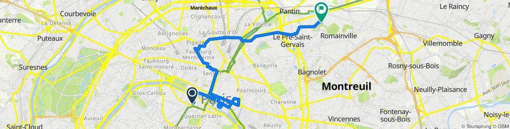 Parcours GEOVELO - Le Paris des amoureux