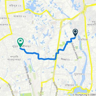 Road No 74 5, Dhaka to ৬ নাম্বার গলি 345/1, Dhaka