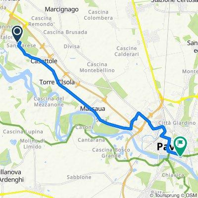 Da Via Val Tanturla 1/D, San Varese a Via Pasquale Massacra 16, Pavia