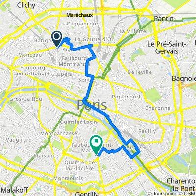 Parcours GEOVELO - Paris fait son cinéma