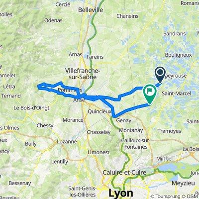 De Montaplan 11, Monthieux à Route du Bois Ravat, Civrieux