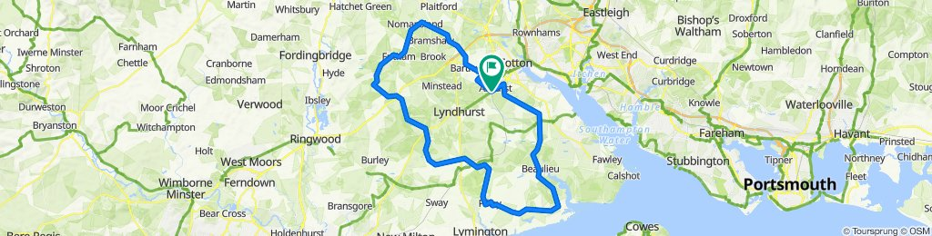 75 km New Forest Route (Reverse)