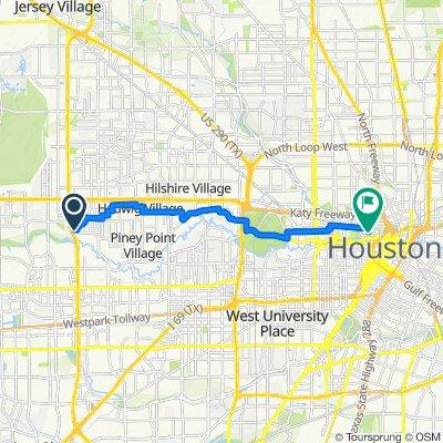12746–12766 Boheme Dr, Houston to 901–953 Silver St, Houston