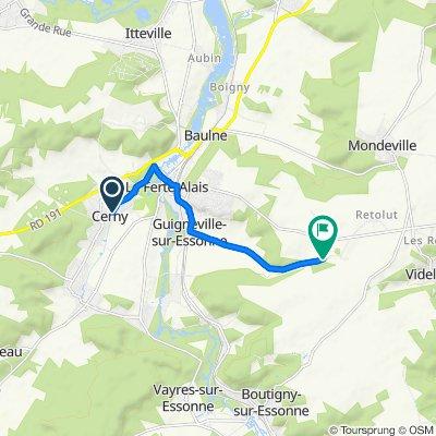 Itinéraire confortable en Guigneville-sur-Essonne