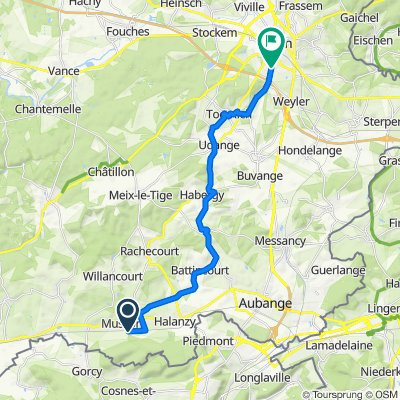 Itinéraire facile en Arlon