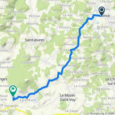 Itinéraire sportif en Araules