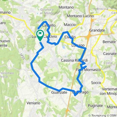 Da Via Caio Plinio 32, Lurate Caccivio a Via Guicciardini 5, Lurate Caccivio