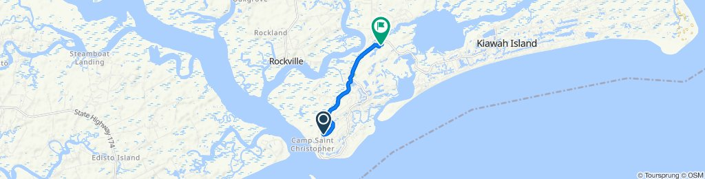 Restful route in Johns Island