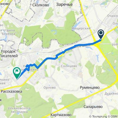 От Озёрная улица, 48с3, Москва до улица Скульптора Мухиной, 9, Москва