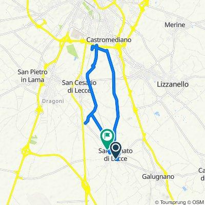 Da Corso Umberto 40, San Donato di Lecce a Via San Cesario 24, San Donato di Lecce