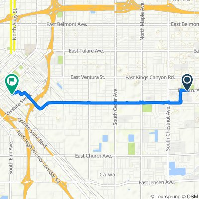 Easy ride in Fresno