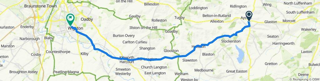 Uppingham Gate, Oakham to 116 Aylestone Lane, Wigston