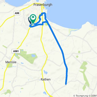 Moderate route in Fraserburgh