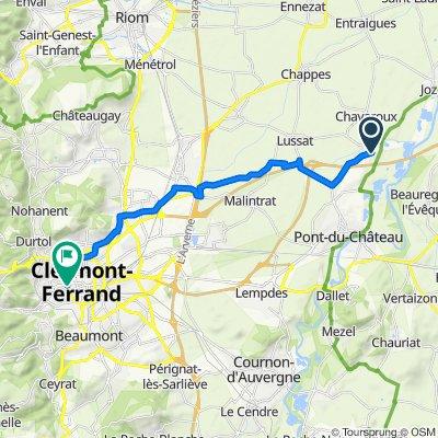 De 9–19 Rue du Claux, Les Martres-d'Artière à 10 Boulevard Duclaux, Chamalières