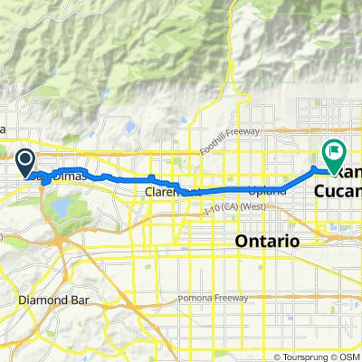 Relaxed route in Rancho Cucamonga