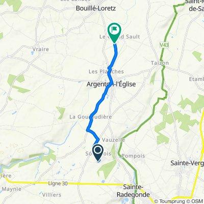 De 24 Rue des Pineaux Soulbrois, Mauzé-Thouarsais à 163 Rue de Villeneuve, Argenton-l'Église