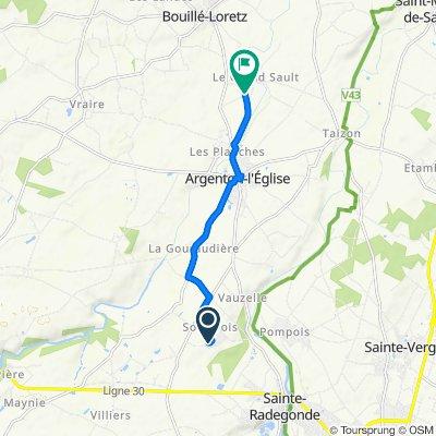 De 24 Rue des Pineaux, Mauzé-Thouarsais à 2–100 Rue de l'Atelier, Argenton-l'Église