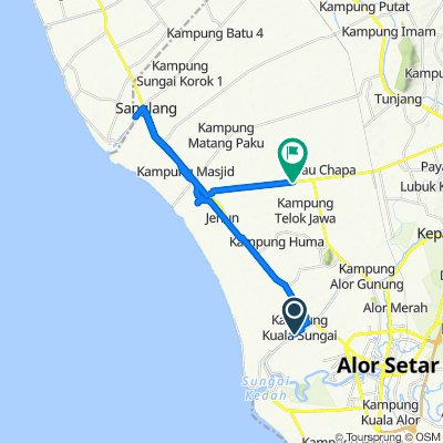 Jalan Kubang Rotan, Alor Setar to 79, Ayer Hitam
