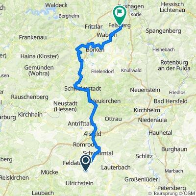 K130, Feldatal nach Chattenweg 6, Felsberg