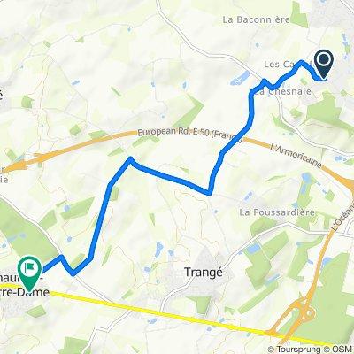 De 84 Route des Robinières, La Milesse à 3 Rue du Clos du Verger, Chaufour-Notre-Dame