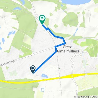 Itinéraire à partir de 36 Avenue du Chemin de Fer, Gretz Armainvilliers
