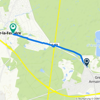 Restful route in Gretz Armainvilliers