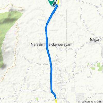 Relaxed route in Periyanaickenpalayam