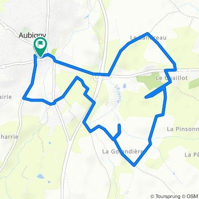 De Passage du Château 7, Aubigny-les-Clouzeaux à Passage du Château 2, Aubigny-les-Clouzeaux