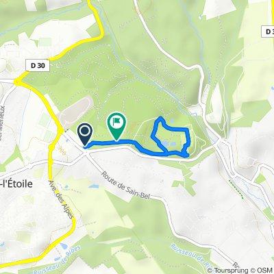 De 1150 Route de Sain-Bel, Marcy-l'Étoile à 1171 Avenue de Lacroix-Laval, Marcy-l'Étoile
