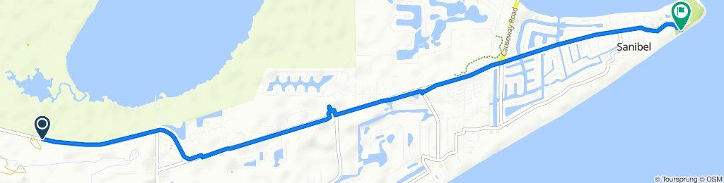 Route from 3282–3340 Sanibel Captiva Rd, Sanibel