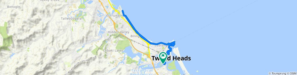 Relaxed route in Tweed Heads South