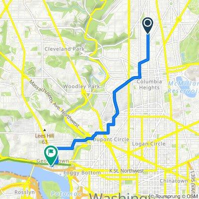 3916 13th St NW, Washington to 3206 Grace St NW, Washington