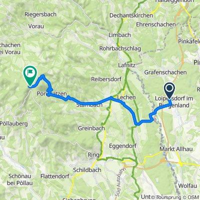 Lärchenweg 7, Loipersdorf im Burgenland nach Oberneuberg, Pöllauberg