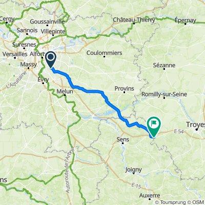 Itinéraire facile en Vulaines