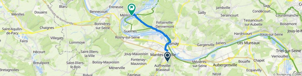De 11 Rue de l'Orbiquet, Mantes-la-Ville à Chemin de l'Ilon, Saint-Martin-la-Garenne
