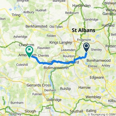 7 Gills Hill Lane, Radlett to Hillside Gardens, Amersham