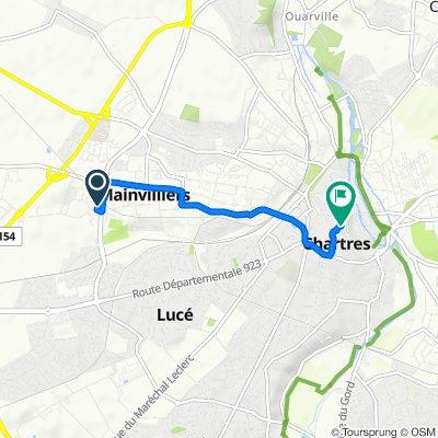 Itinéraire à grande vitesse en Chartres