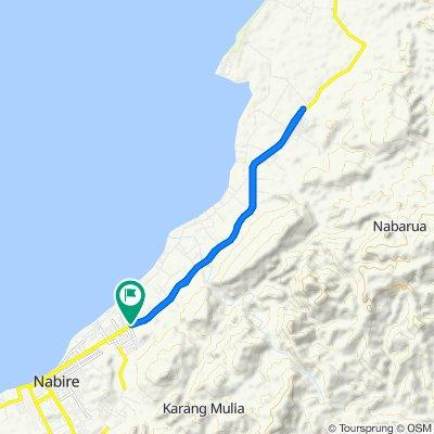 Jalan Poros Samabusa, Kecamatan Nabire to Siriwini, Kecamatan Nabire