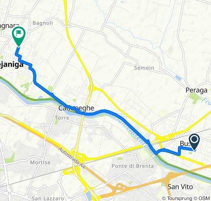 Da Via A. Moro 44, Vigonza a Via Guido Franco 49, Mejaniga
