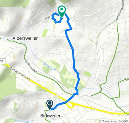 Entspannende Route in Gleisweiler