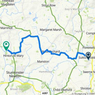Cowleaze, Church Lane, Blandford Forum to Cutt Mill Lane, Sturminster Newton