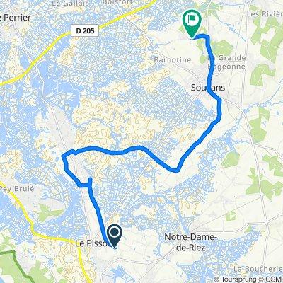 De Chemin de Buette aux Rigonneries 3039, Saint-Hilaire-de-Riez à Chemin des Landes 20, Soullans