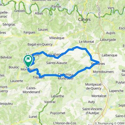 Lacase Basse, Montlauzun to D45, Montlauzun