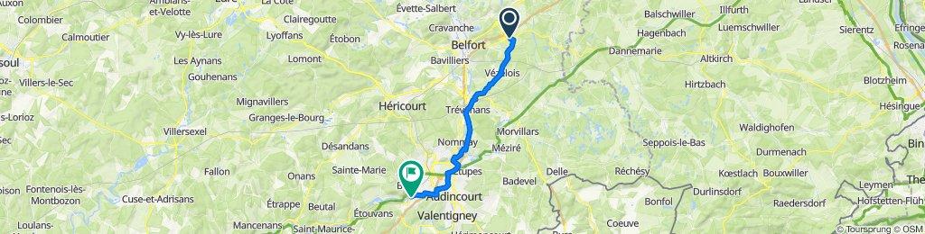 De 8 Rue des Lys, Bessoncourt à 2 Rue de l'Écluse, Voujeaucourt