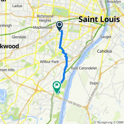 3136–3152 Park Hampton Ct, St. Louis to 2900 Sheridan Rd, Saint Louis