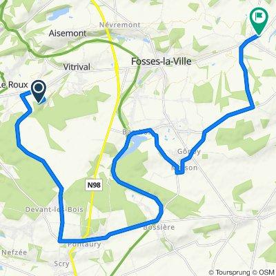 Itinéraire modéré en Fosses-la-Ville