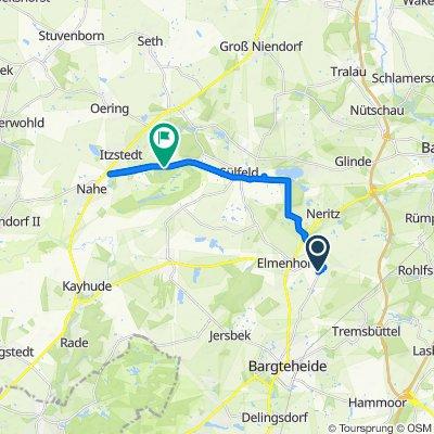Langsame Fahrt in Itzstedt
