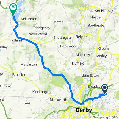 Route from 13 Glamis Close, Derby