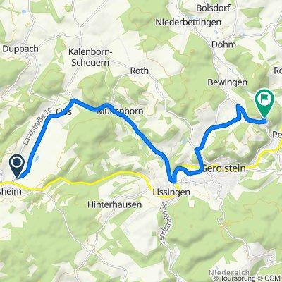 Auf Erden 19, Büdesheim nach Gerolsteiner Straße 45, Pelm